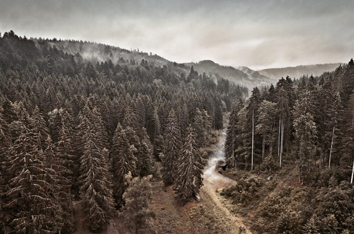 Nebel an der Schwarzenbachtalsperre